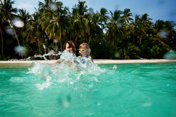 Happy splashing