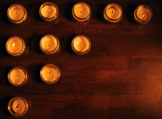 Background of candles.