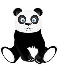 Cute sitting panda