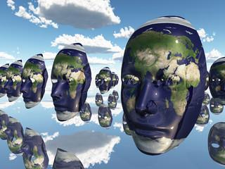 Earth faces