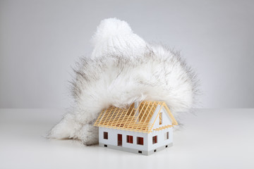 Unfinished house insulation
