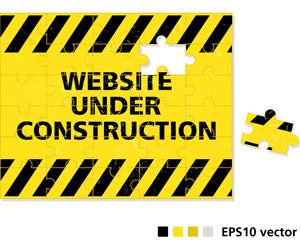 Website under construction puzzle concept