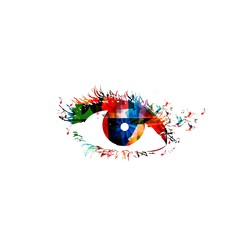 colorful woman eye. vector