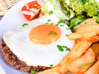 Egg and fries