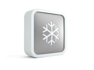 3d snowflake icon