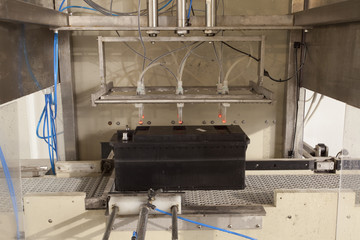 conveyor belt battery production