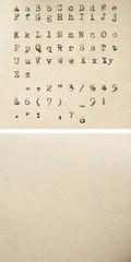 typewriter alphabet