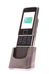 Mobile phone with incoming message (SMS)