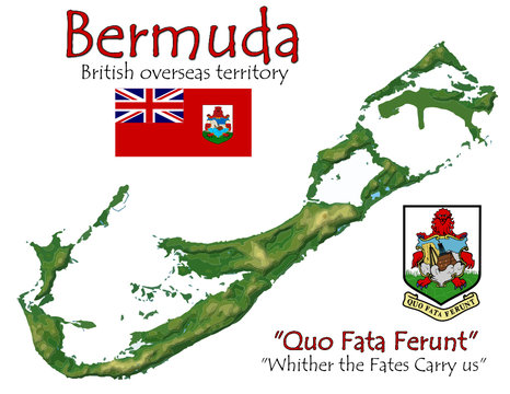 Bermuda national emblem map symbol motto