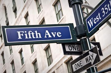 Panneau Fifth Avenue - New York USA