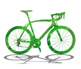 Green bicycle silhouette