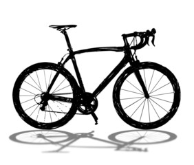 Black bicycle silhouette