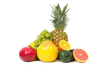 fruits isolated on white background