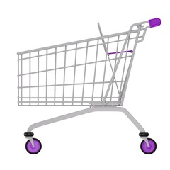 Image of a shopping empty trolley cart