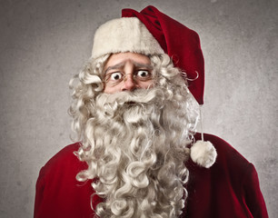 Astonished Santa Claus