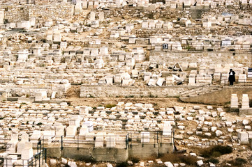 Ancient Jewish cemetery on the Mount of Olives