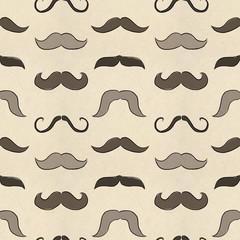 Seamless mustache pattern
