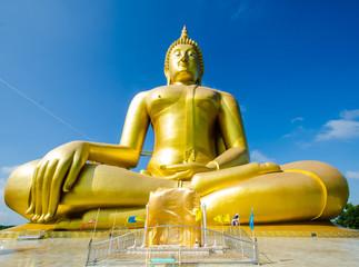big hand and buddha in thailand