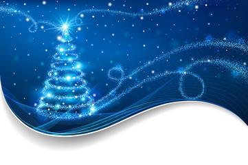 Wall Mural - The Magic Christmas Tree. Christmas background