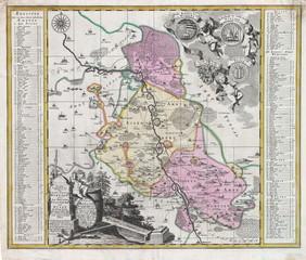 Historische Landkarte Amt Eilenburg 1757