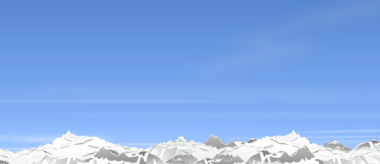 Panorama Berge Winter