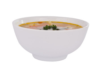bowl of soup isolated