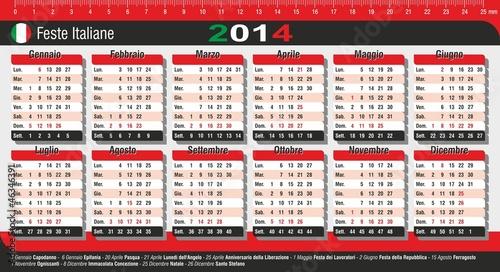 Calendario 2014 da tavolo con festivit italiane immagini e vettoriali royalty free su fotolia - Calendari da tavolo con foto ...