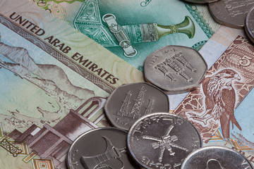United Arab Emirates coins and banknotes