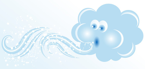 Obraz Blowing cloud - fototapety do salonu