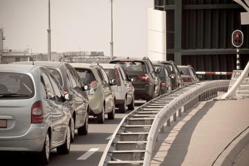 Open Bridge and Waiting Cars