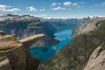 Obraz Trolltunga, Troll's tongue rock, Norway - fototapety do salonu