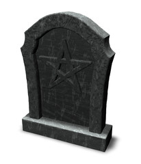 pentacle on gravestone