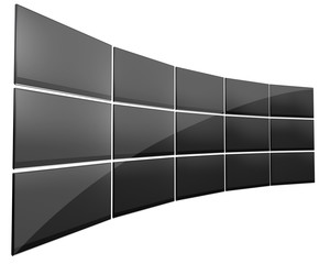Wall Of Flat Screens Televisions