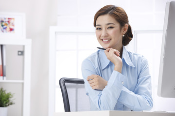 Smile businesswoman