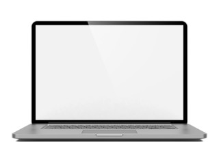 Laptop Isolated on White Background.