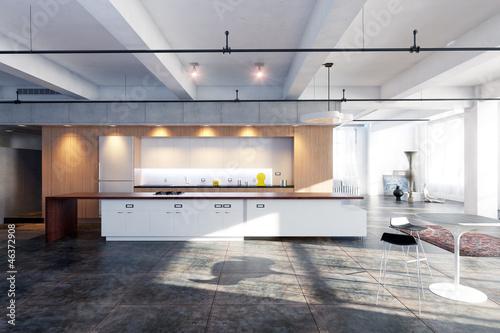 """loft interieur mit schlichtem design bilder, loftwohnung - loft - loft interior - 3d rendering"""" stockfotos und, Design ideen"""