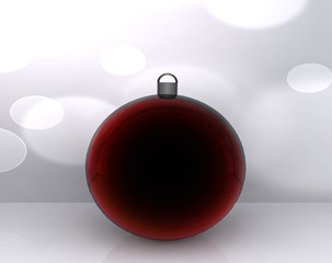 Background with Christmas ball decorated - 3D