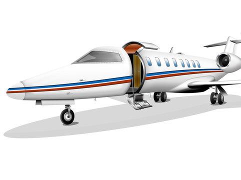 Privat-Jet auf Parkposition