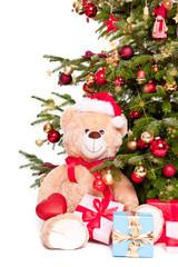 bär und Weihnachtsbaum