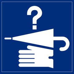 Papier Peint - Schild blau - Fundbüro