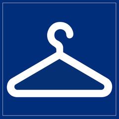 Papier Peint - Schild blau - Garderobe