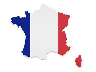 France Map 3d Shape