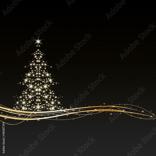 weihnachten hintergrund baum sterne schwarz gold stockfotos und lizenzfreie vektoren. Black Bedroom Furniture Sets. Home Design Ideas