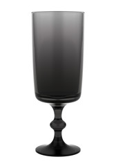 single black empty glass isolated on white background