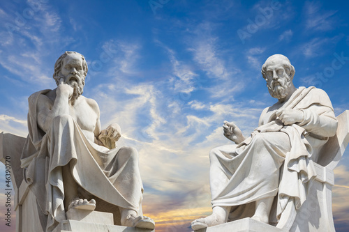 Fototapete Plato and Socrates,the greatest ancient greek philosophers