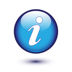 information icon on blue