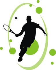 Tenisista z tłem
