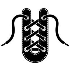vector shoe lace symbol