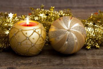 Weihnachtsstimmung mit Kerze