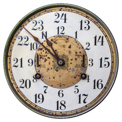 Highly decorated early twentieth century clock face